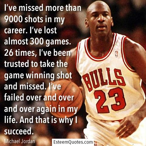 failure and success quote michael jordan