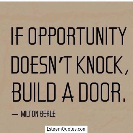 opportunity knocking quotes