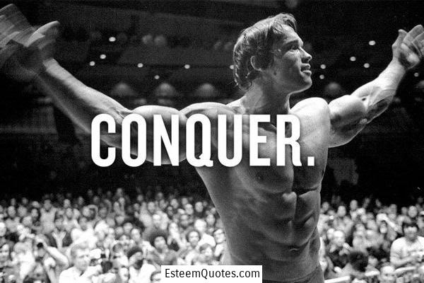 schwarzengger quote conquer