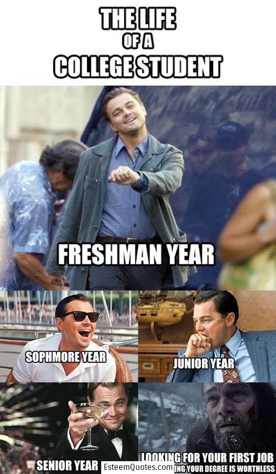 Leonardo Dicaprio College Quote Meme Esteem Quotes