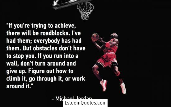 michael jordan roadblocks quote