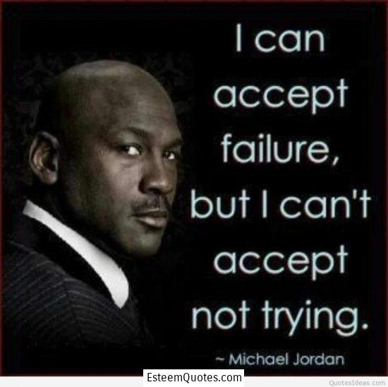 michael jordan failure and not trying quote