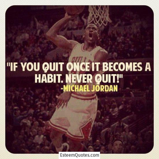 michael jordan never quit quote